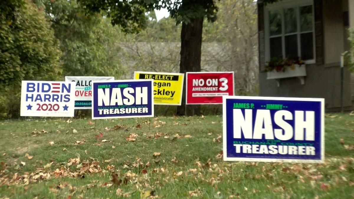 Political signs subject to getting stolen