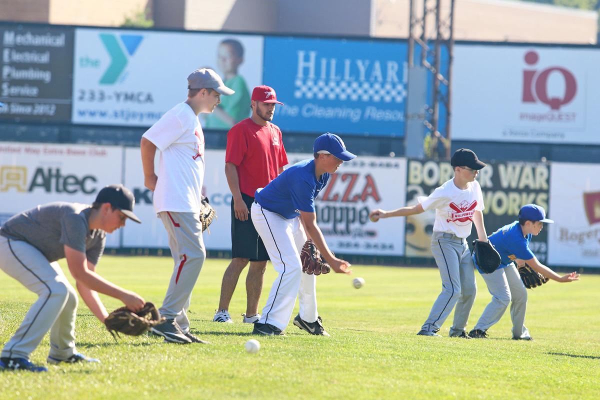 Baseball camp practices technique