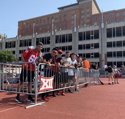 Fans at women's soccer game