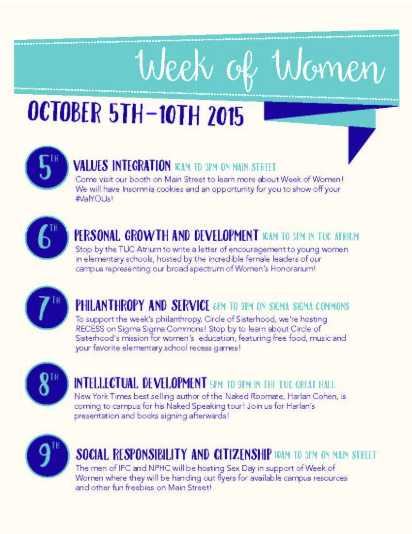 Full week to be dedicated to women's issues | College Life
