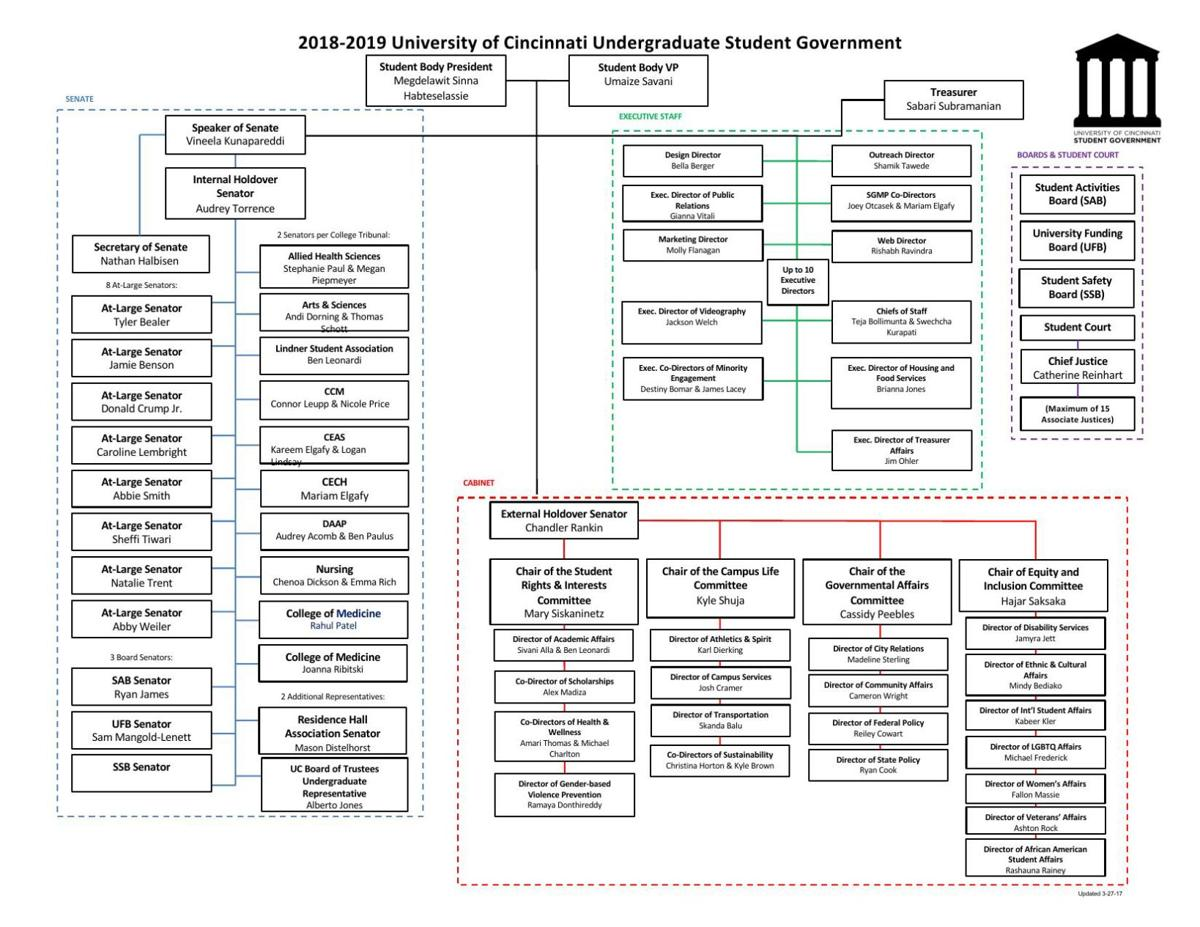 Student Government Org Chart