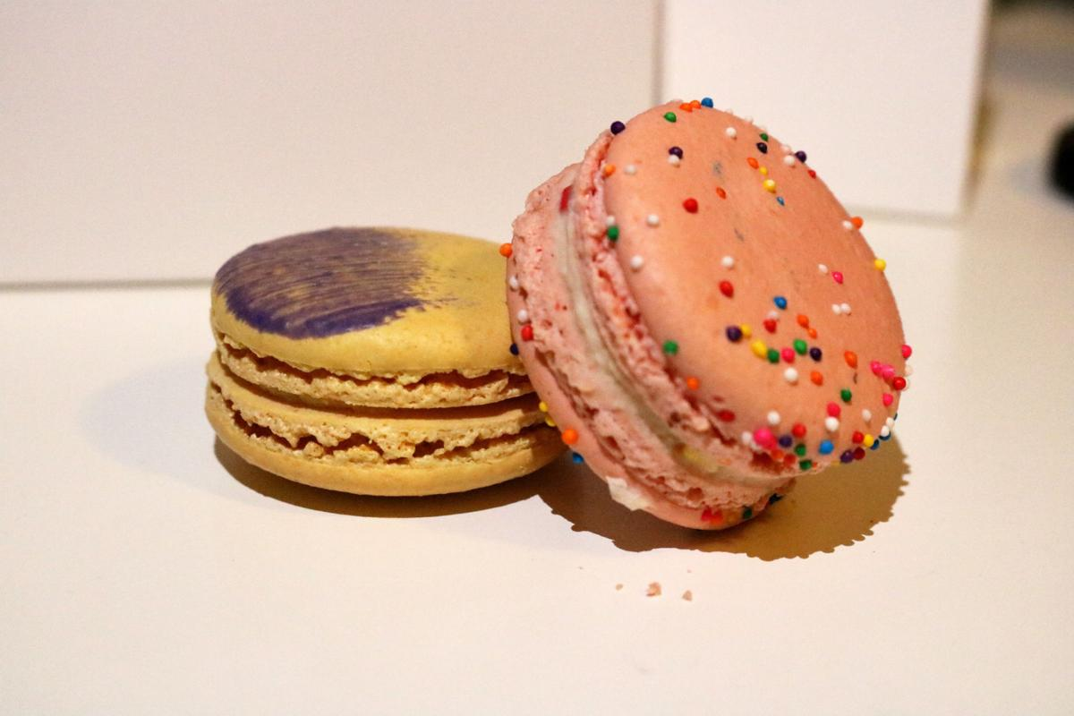 Lemon Lavender and Birthday Cake macarons