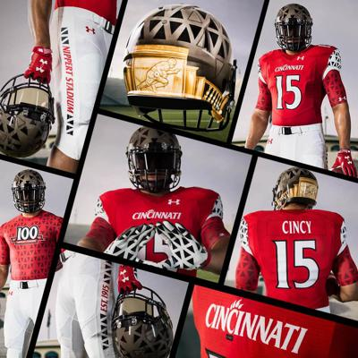 Molesto becerro Deportista  UC, Under Armour reveal exclusive Homecoming uniforms | Sports ...