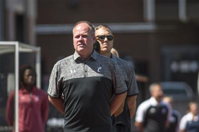 UC women's soccer head coach Neil Stafford