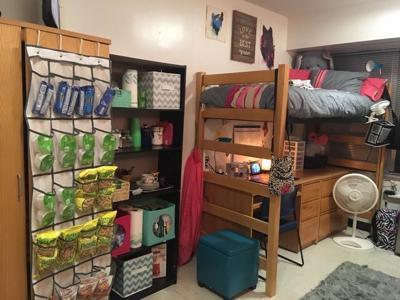Tawney Beans dorm room