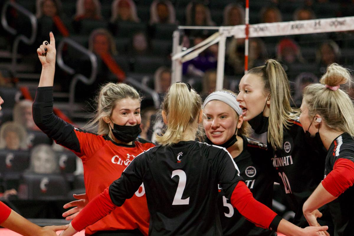 Bearcat's volleyball sweeps crucial series vs USF