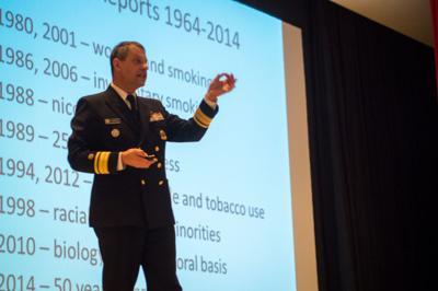 Surgeon General brings tobacco 'battle' to campus