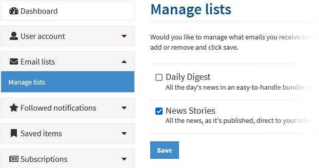 Manage Lists