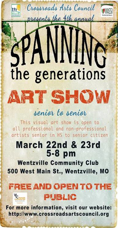 """4th Annual """"Spanning The Generations"""" – Senior to Senior"""" Art Show"""