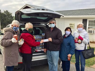 Immanuel Lutheran donations to St. Vincent DePaul Food Pantry