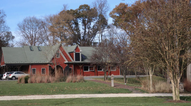 The stables at Glenn and Suzanne Youngkin's horse farm in Fairfax County