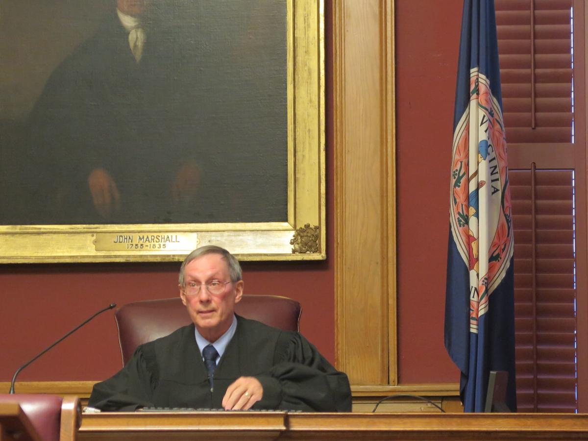 Judge Victor Ludwig honored with portrait in Augusta County Circuit Court