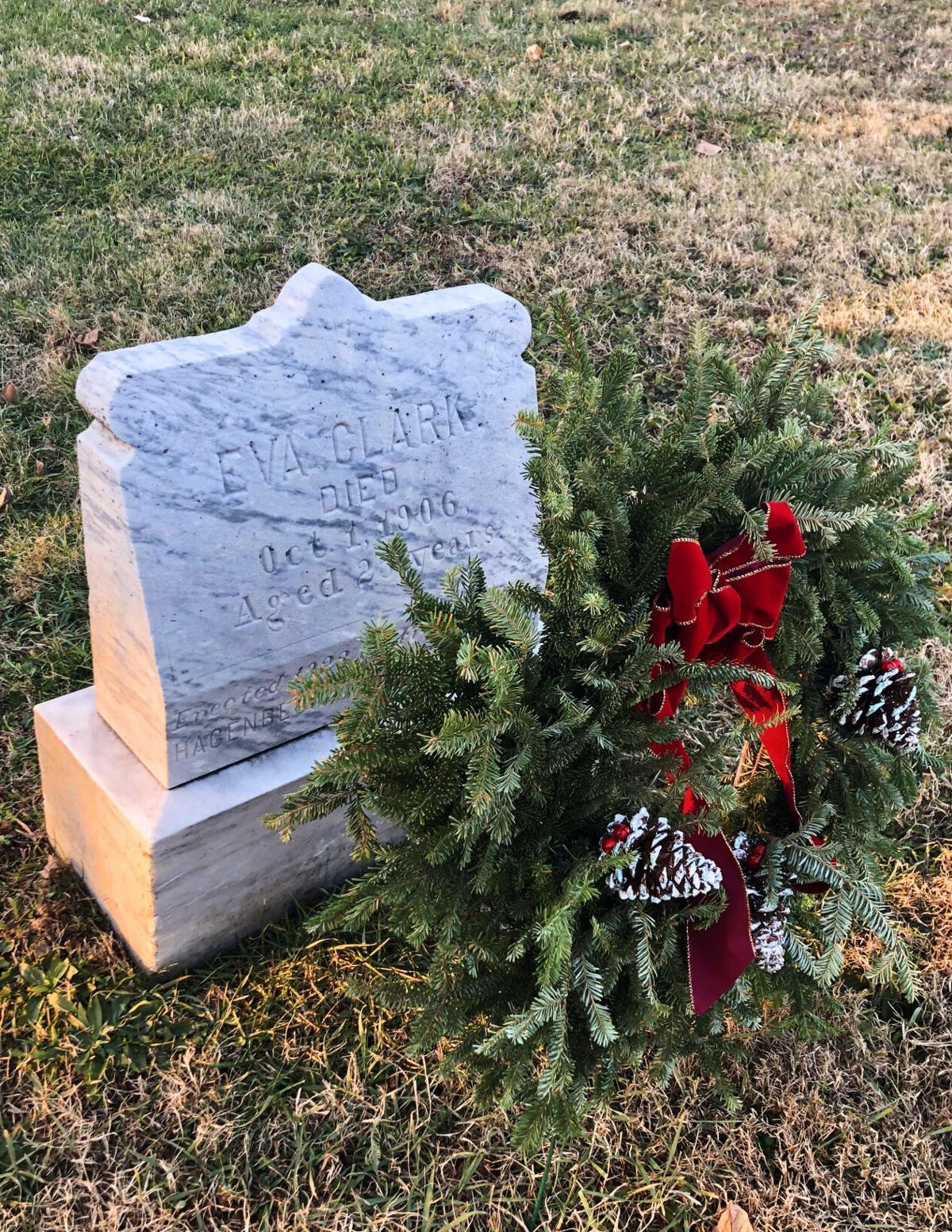 Eva Clark grave