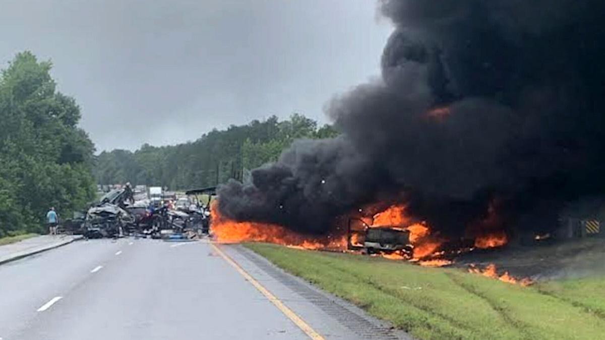 Girls living at an Alabama ranch for abused children are mourning the loss of eight 'sisters' killed in a fiery crash