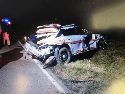 Cop Crash on Augusta Farm Road