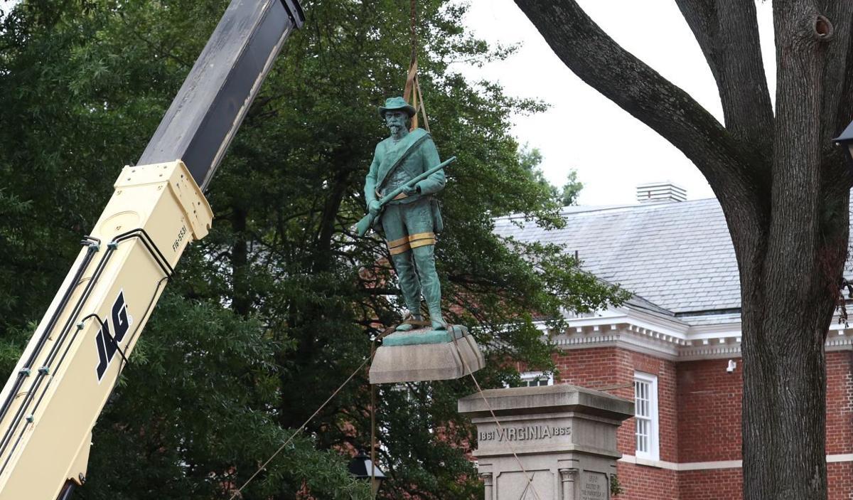 Albemarle Confederate statue removed