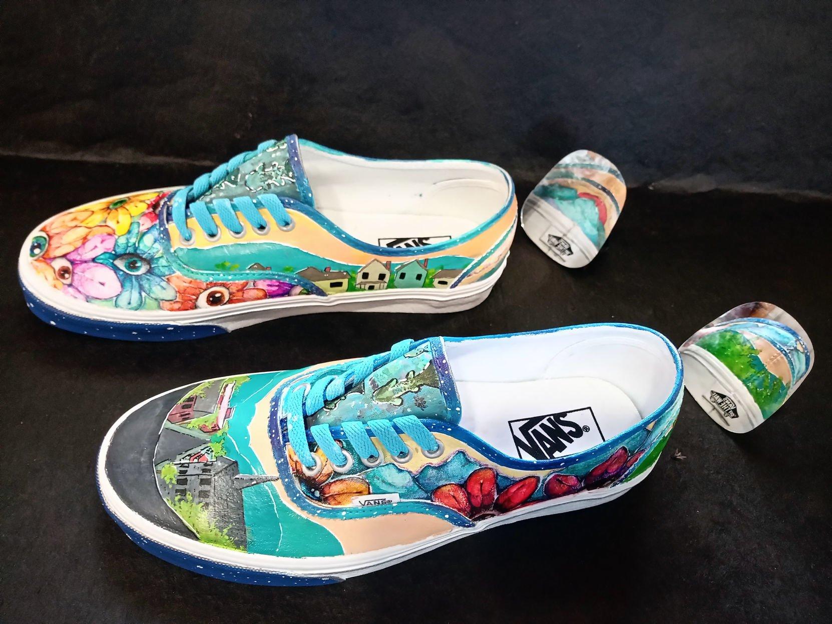 Waynesboro High students create shoe