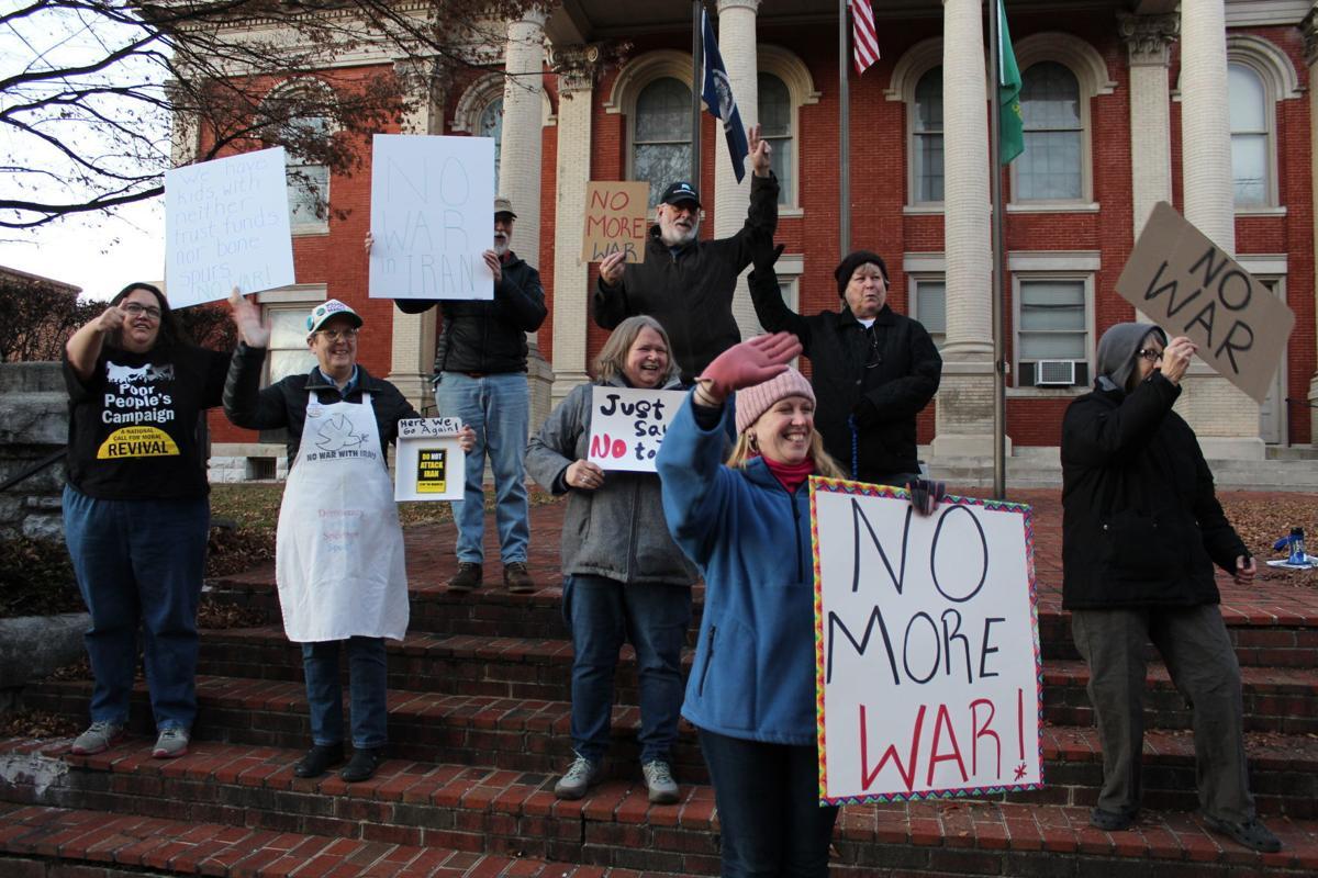 Anti-war supporters gather in Staunton
