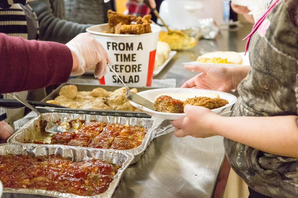 Meals are served to individuals at a WARM cold weather shelter location