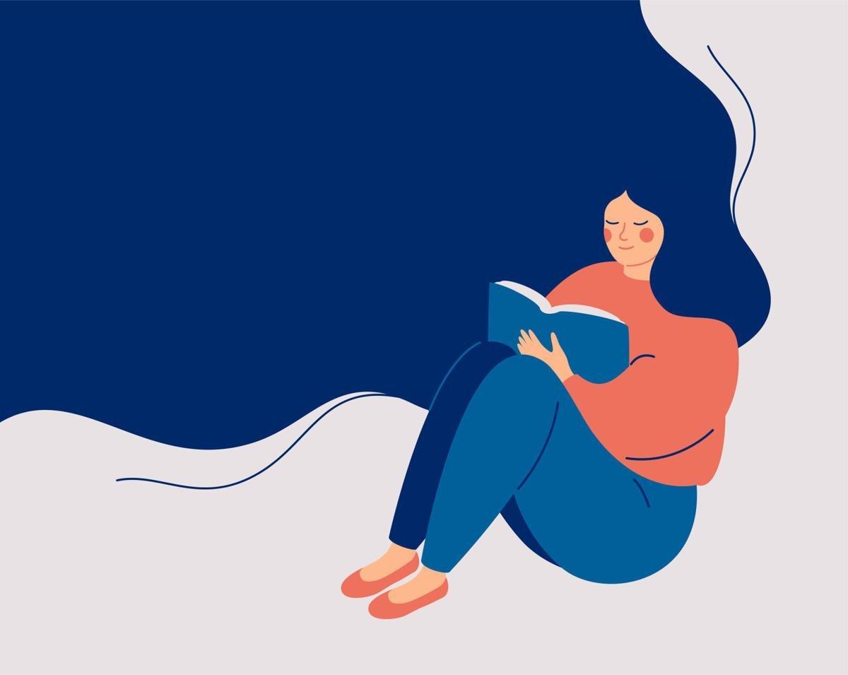 Reading illustration