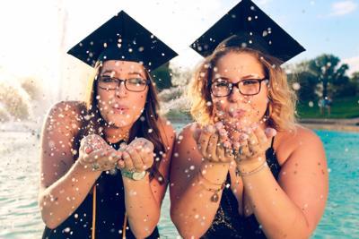 SGA provides Ecofetti for graduation pictures