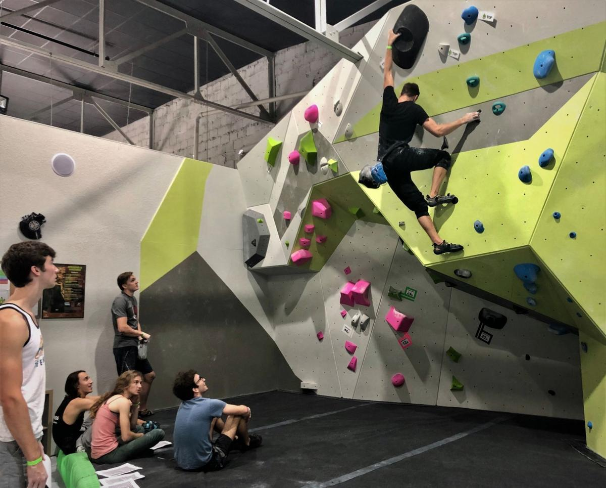 Climbing their way to success: college students bouldering competition THIS ONE