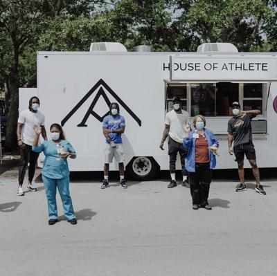Raw Juice and House of Athlete serving hospital staff