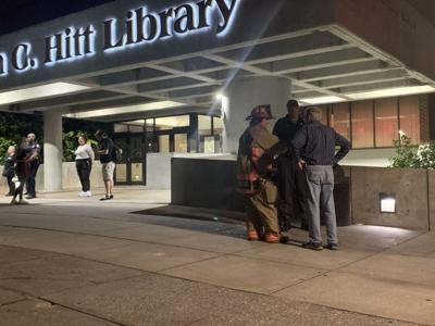Busted pipe leads to flooding at John C Hitt library