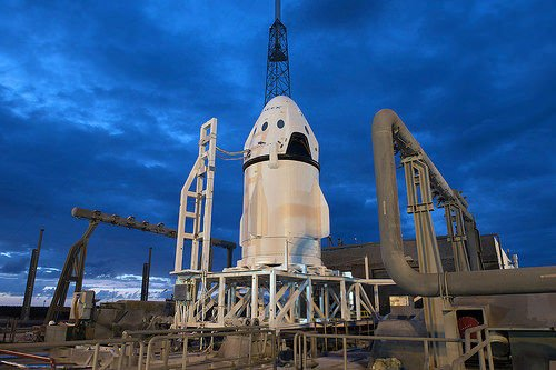 SpaceX Dragon Crew in Launch Pad