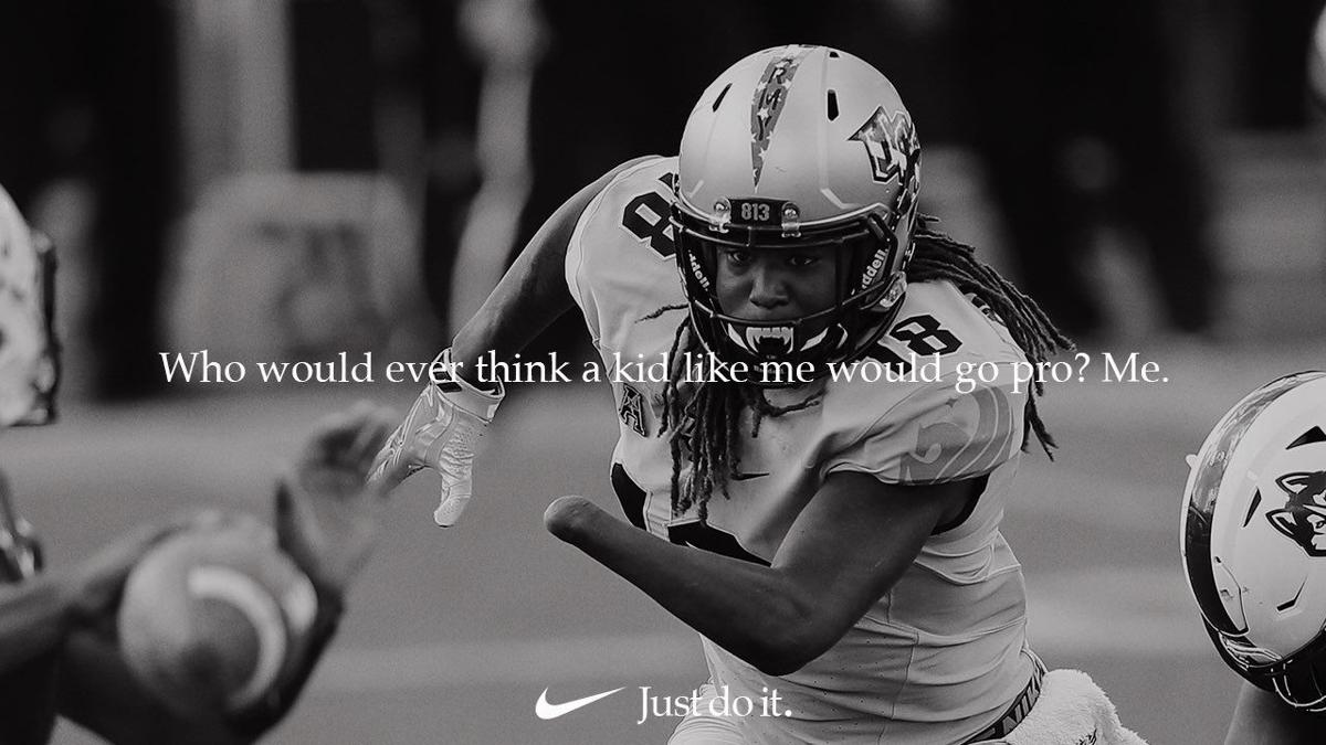 low priced 26529 7514f Former UCF star Shaquem Griffin featured in Nike ad campaign ...