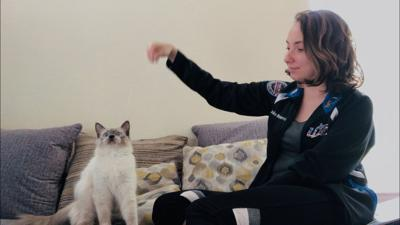 UCF student adopts stray to fight homesickness