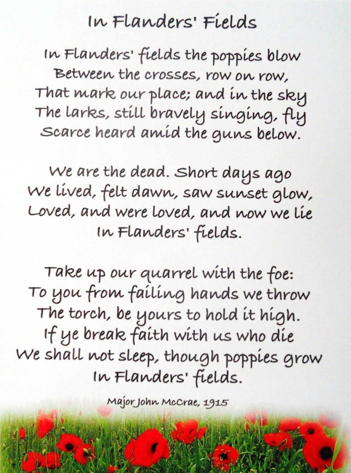 2020 Veterans Day Poem