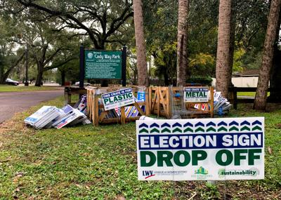 For the first time ever, Orlando sets up recycling sites for campaign signs