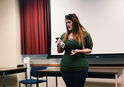 "Faith Culhane reading personal piece, ""ASL"""