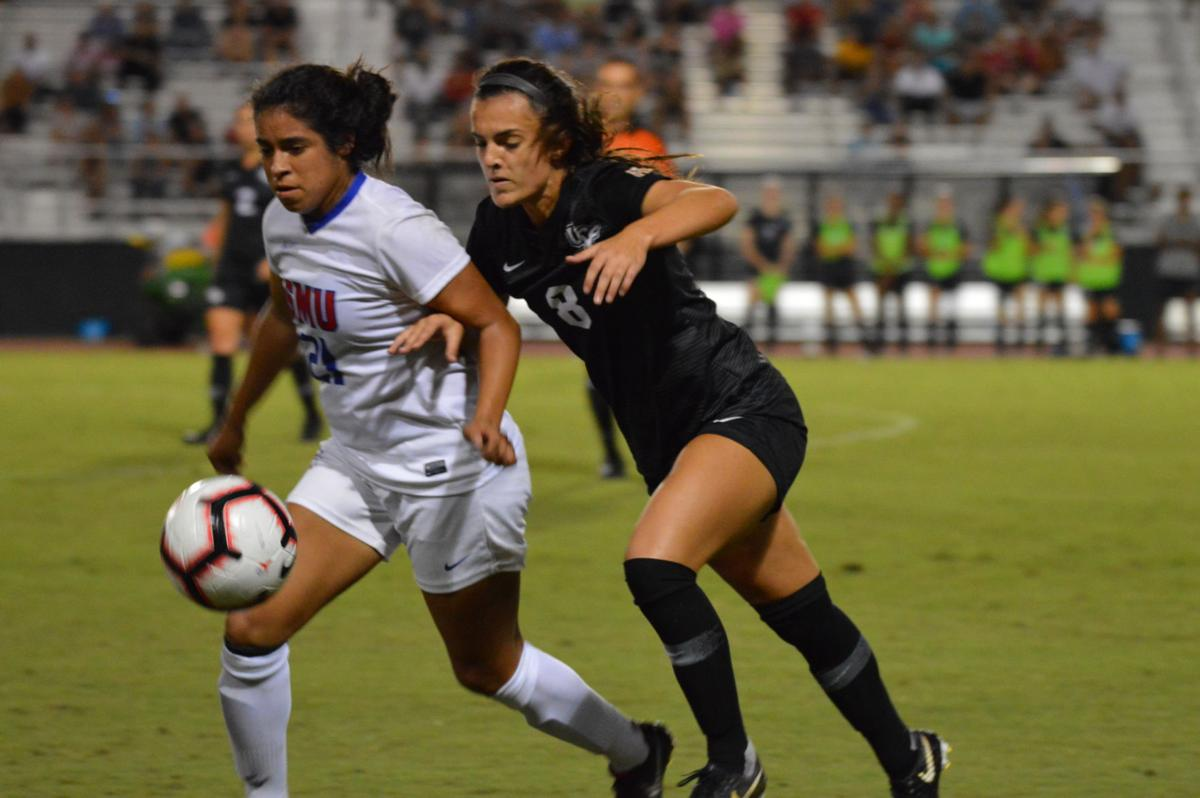 Women's soccer shutout by SMU, drop to second place