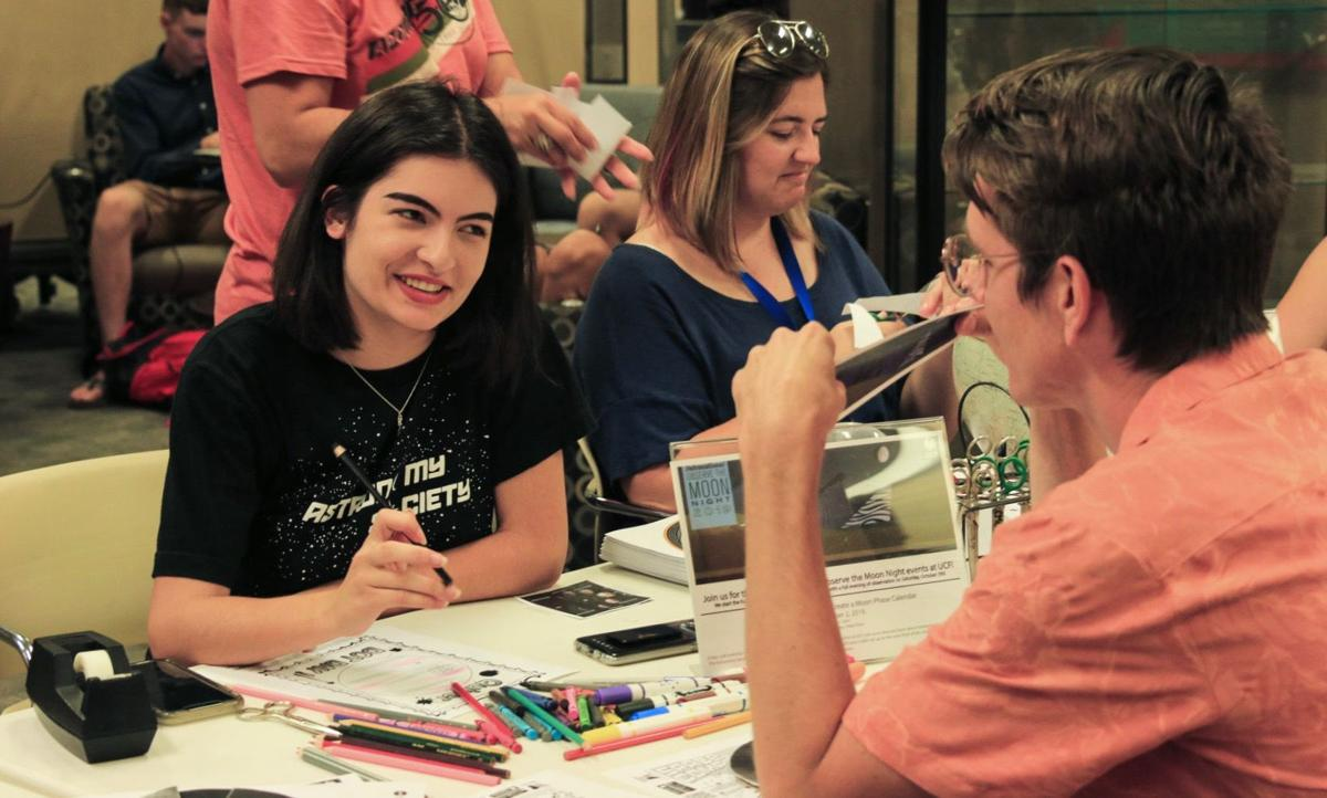 UCF students celebrate with crafts in honor of International Observe the Moon Night