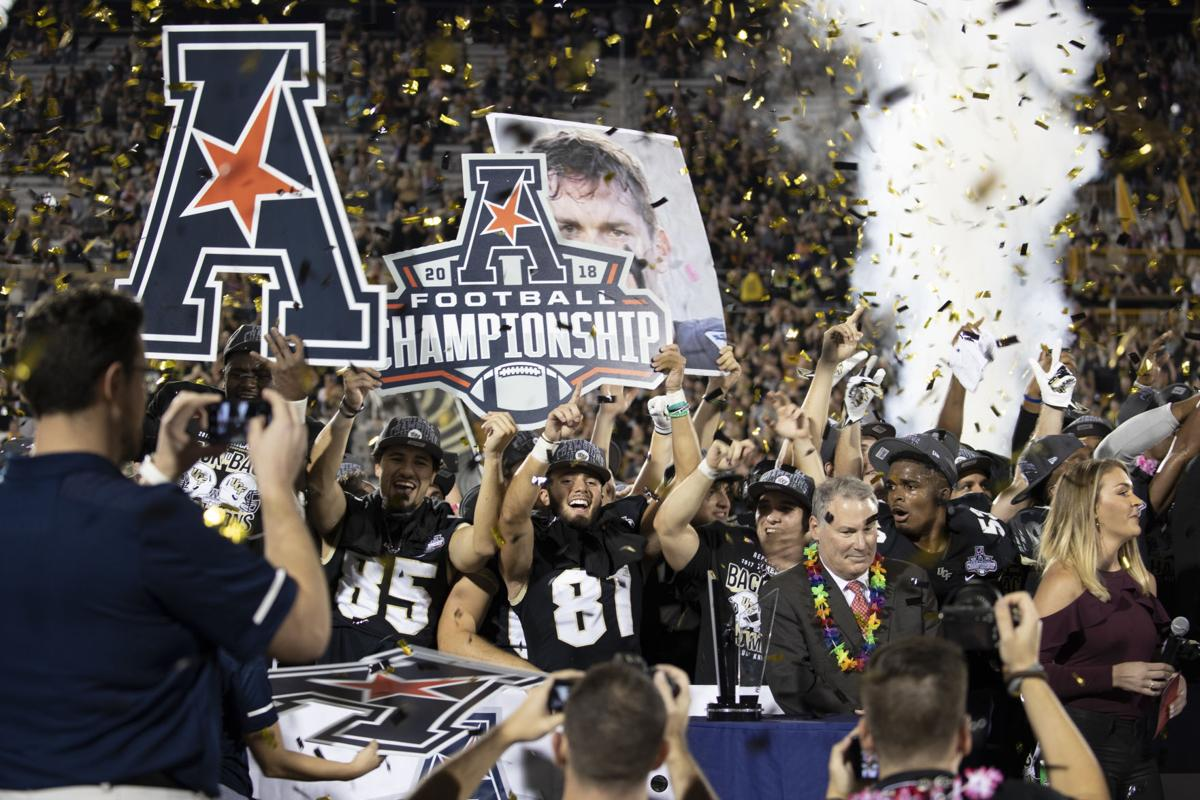 sports shoes 71bec 26b55 UCF overcomes 17-point deficit to clinch AAC title | Sports ...