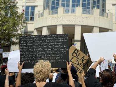 Protesters in Downtown Orlando demand justice for George Floyd