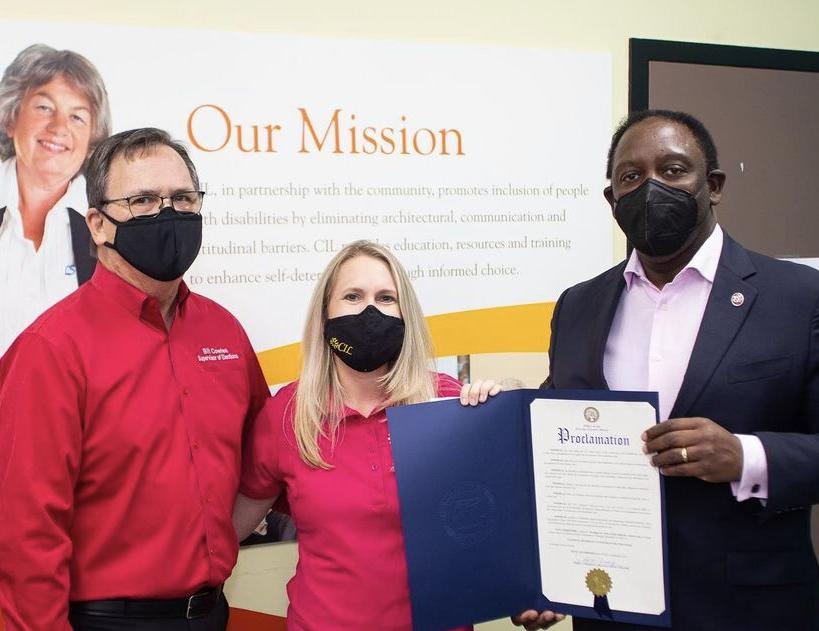 Mayor Jerry Demings proclaimed accessibility for voters with disabilities in Orange County 1