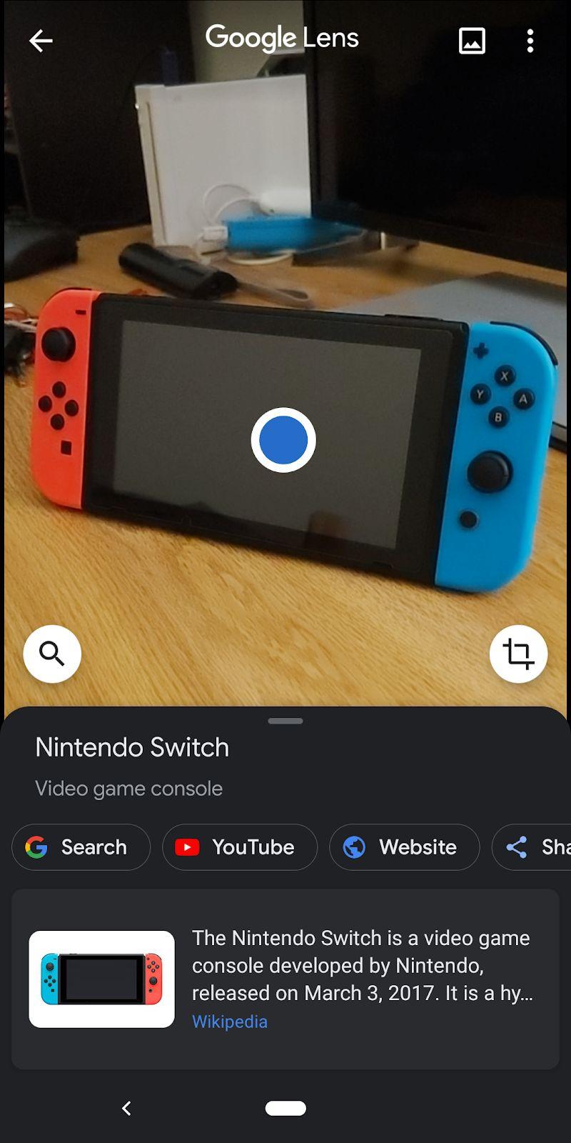 Google lens switch