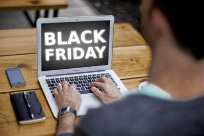 Shopping online on the biggest shopping day of the year