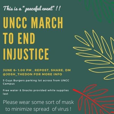 UNCC march to end injustice