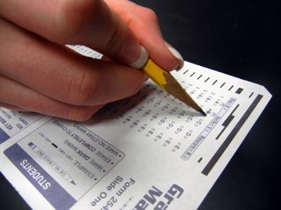 Standardized test close up