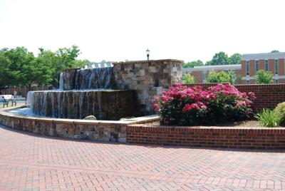 Fountain in Belk Plaza
