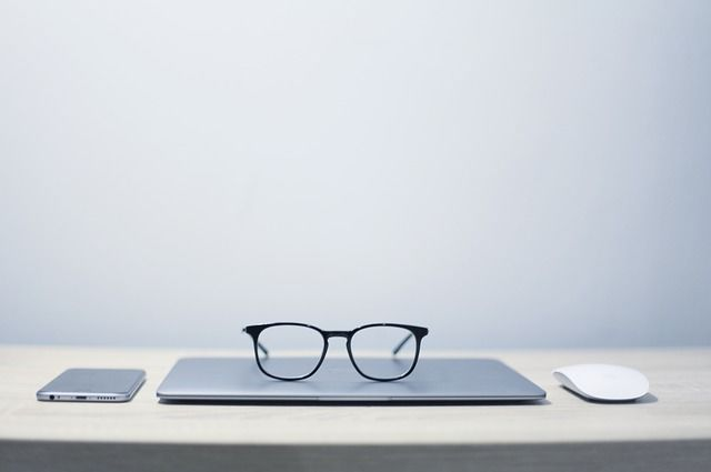 Phone Table Notebook Minimalism Mouse Glasses