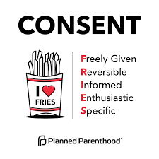 Consent is like FRIES