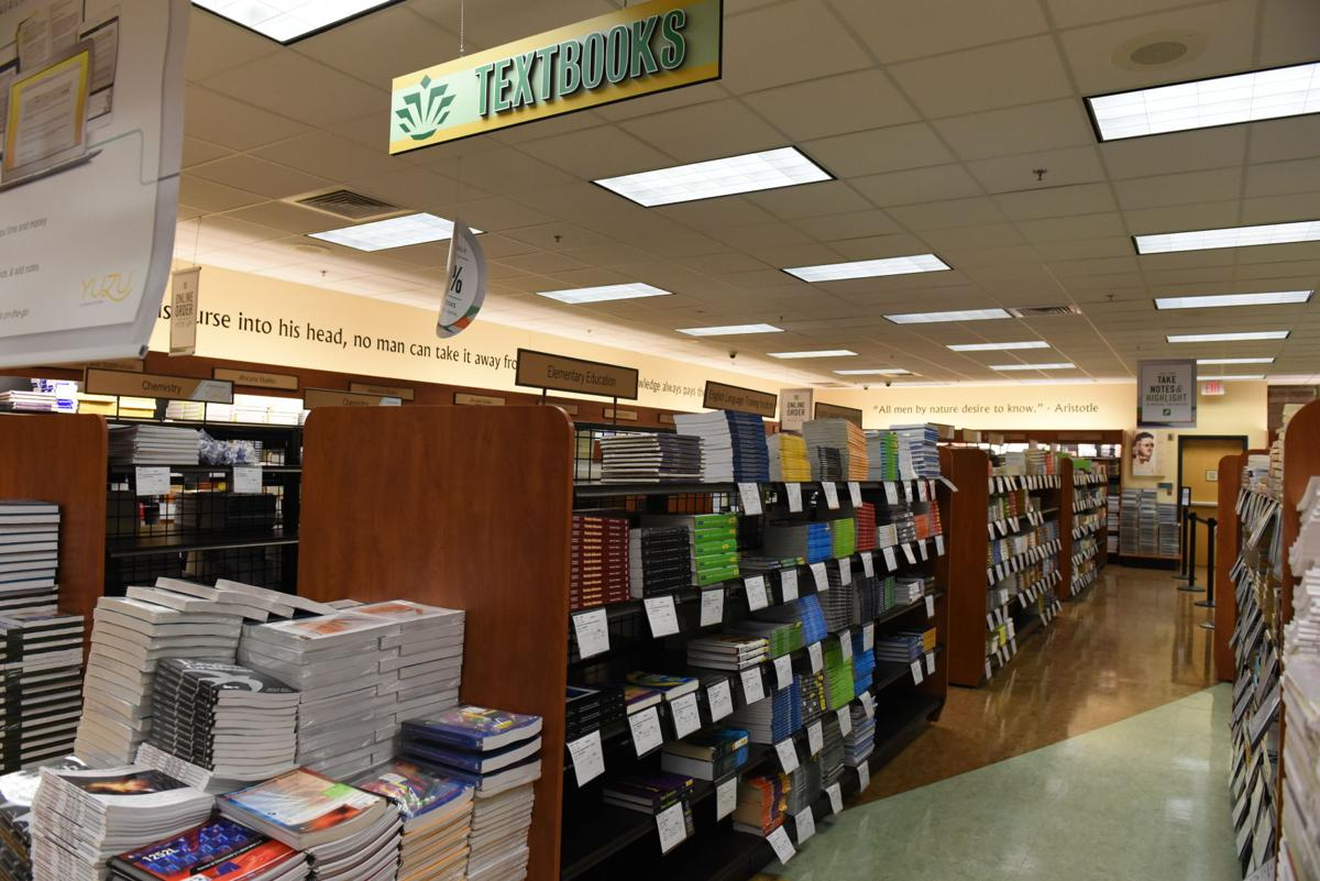 Lower level of the UNC Charlotte Bookstore