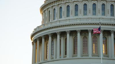 The dome of the United States Capitol building in Washington D.C.