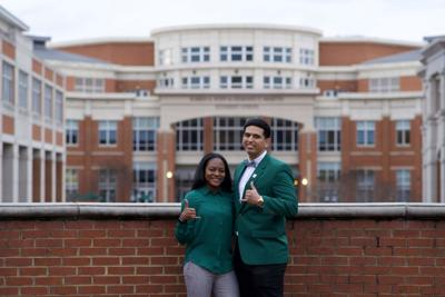 Photo of candidates Tahlieah Sampson and Vince Graham