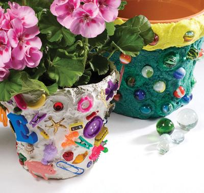 Go Wacky, Artsy with Plain Clay Pots